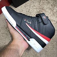 Мужские зимние кроссовки Fila Sneakers Fx100 Mid Black White 7de5575711d6b