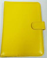 Чехол для планшетов с диагональю 7 дюймов жёлтый  внутри замшевый, фото 1