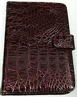 Чехол для планшетов с диагональю 7 дюймов лаковый бордовый сделанный из искусственной кожи внутри замшевый , фото 1
