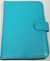 Чехол для планшетов с диагональю 7 дюймов голубой сделанный из искусственной кожи внутри замшевый , фото 1