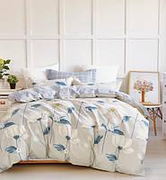 Комплект постельного белья из натурального Сатина  Ивета да, С принтами, Сатин - 100% хлопок, евро