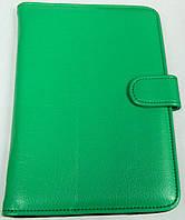 Чехол для планшетов с диагональю 7 дюймов зелёный сделанный из искусственной кожи внутри замшевый , фото 1