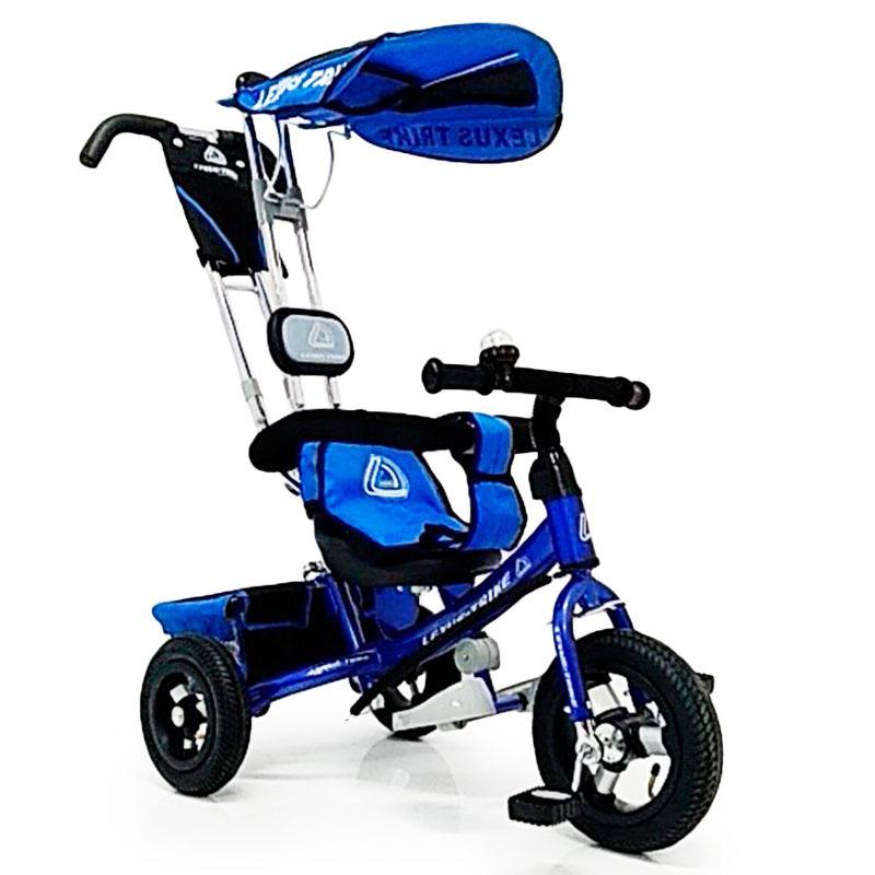 Велосипед трехколесный с родительской ручкой WS-862AW надувные колеса 12\10