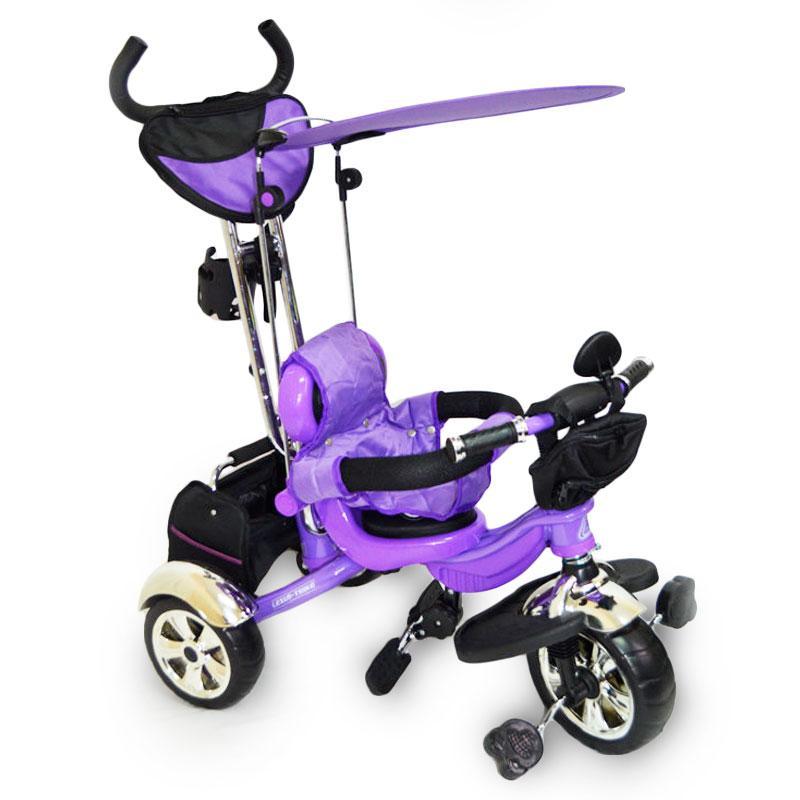 Трех-колесный велосипед с родительской ручкой Lexus-Trike LX-600 Purple