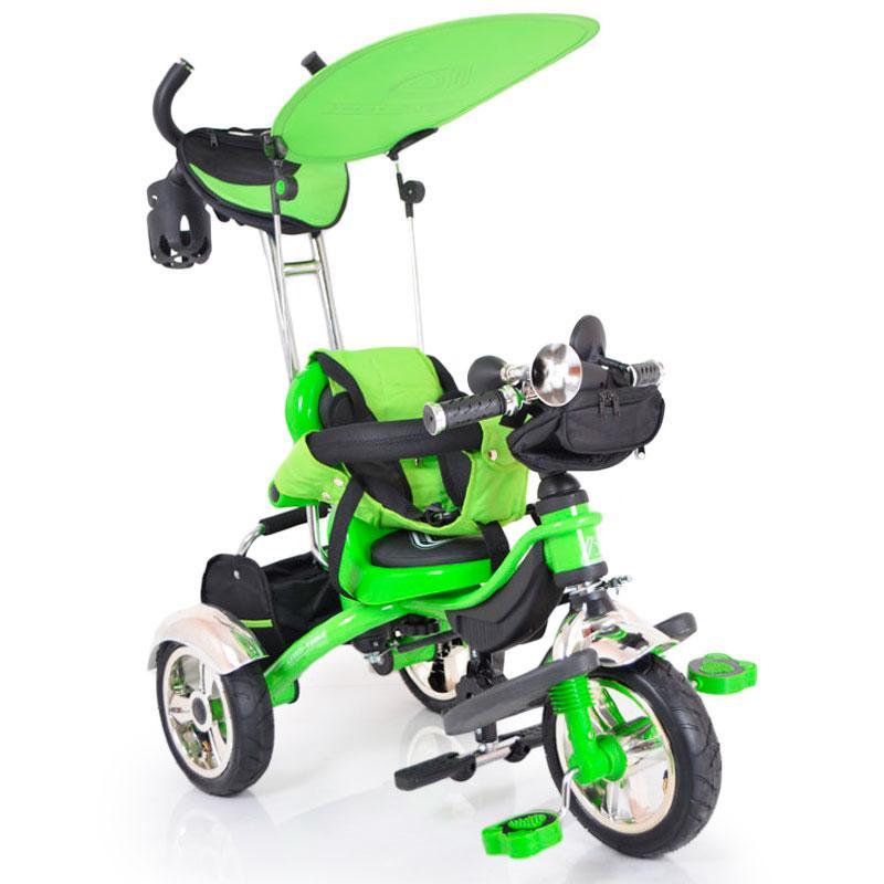 Велосипед трехколесный с родительской ручкой  Lexus-Trike LX-570 Green