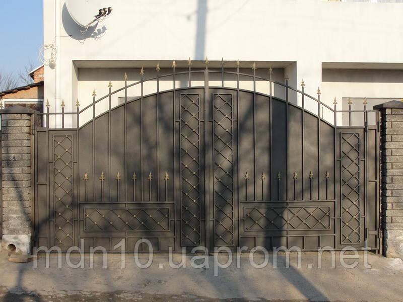 Ворота кованые в классическом стиле (MD-VKR-003)