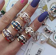 Серебряное кольцо с золотом Герда