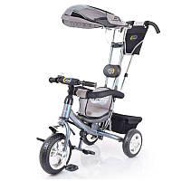 Трех-колесный Велосипед с родительской ручкойLex-007 (10/8 EVA wheels) Grey