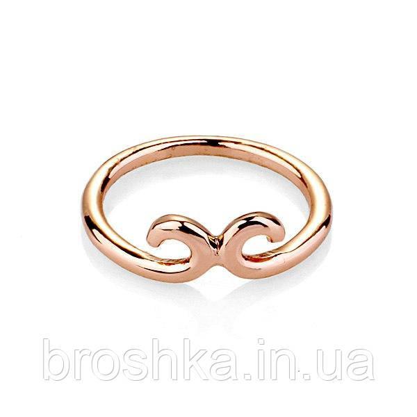 Тонкое позолоченное кольцо бижутерия без камней