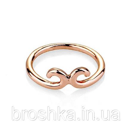 Тонкое позолоченное кольцо бижутерия без камней, фото 2