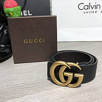 Belt Gucci Double G Buckle Gold/Black