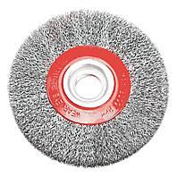 Щетка VERTO проволочная дисковая, 125 x 20 мм