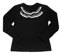 """Блуза для девочки """"Жабо"""", рост 122, цвет черный"""