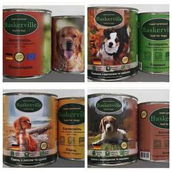 Консервований корм Baskerville Баскервіль для собак