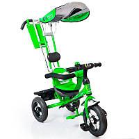 Трех-колесный Велосипед с родительской ручкой Lex-007 (12/10 AIR wheels) Green