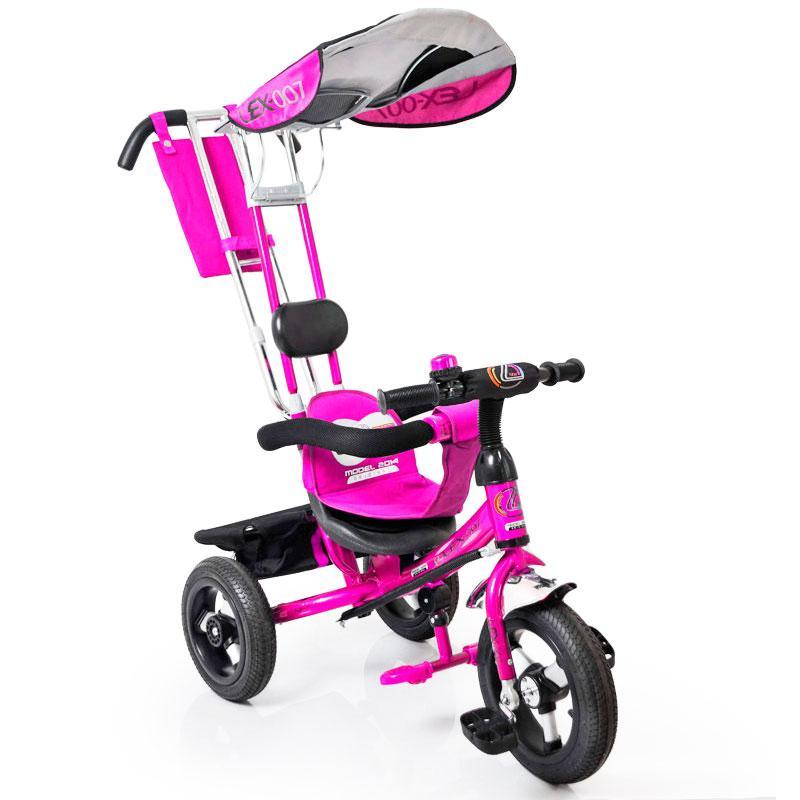 Трех-колесный Велосипед с ручкой Lex-007 (12/10 AIR wheels) Violet