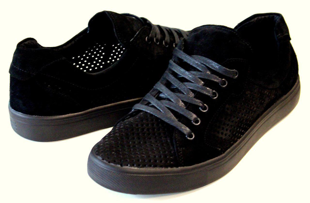 Мужские летние кроссовки Материал Натуральная замша , перфорированная Легкие и дышащие Размеры 40 - 44й