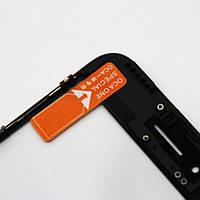 Стекло (для ремонта дисплея) для iPhone 8, черное, с рамкой, с OCA-пленкой