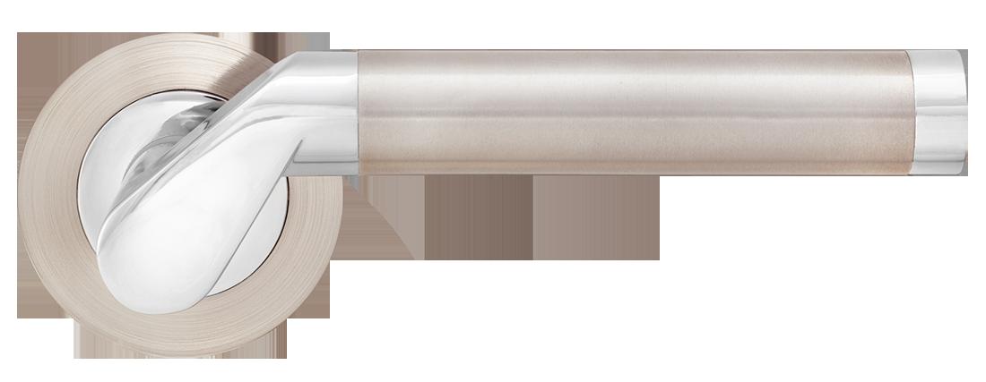 Дверные ручки MVM Tubo S-1103 SN-CP матовый никель/полированный хром