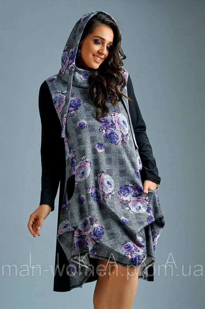 Платье большого размера Likara. Размеры: батал(48-50,52-54,56)