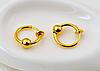 Cерьга кольцо обманка для пирсинга золотистый(носа,ушей,губ) с фиксатором