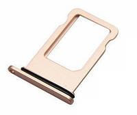 Лоток для сим карты для iPhone 8 Plus, золотистый