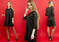 Платье черное Эмма, р-ры 44-52