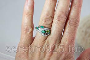 Кольцо серебряное 925 с натуральными. камнями 16,5 р., фото 2