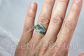 Кольцо серебряное 925 с натуральными. камнями 16,5 р., фото 3