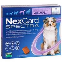 НексГард Спектра (NexGard Spectra) таблетка от блох клещей и гельминтов для собак от 15-30кг №1 *