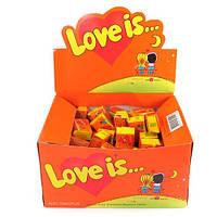 Жевательная жвачка Love is, жвачки лове ис Ананас и Апельсин