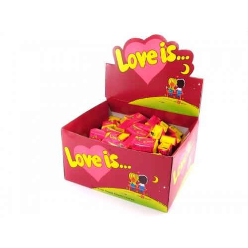 Жевательная жвачка Love is, жвачки лове ис  Вишня и Лимон