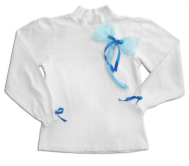 """Блуза для девочки """"Кружевной бант"""""""