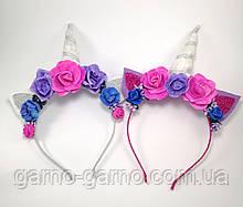 Обруч Единорог Украшение для волос Cеребро Розово-фиолетовый ободок единорог
