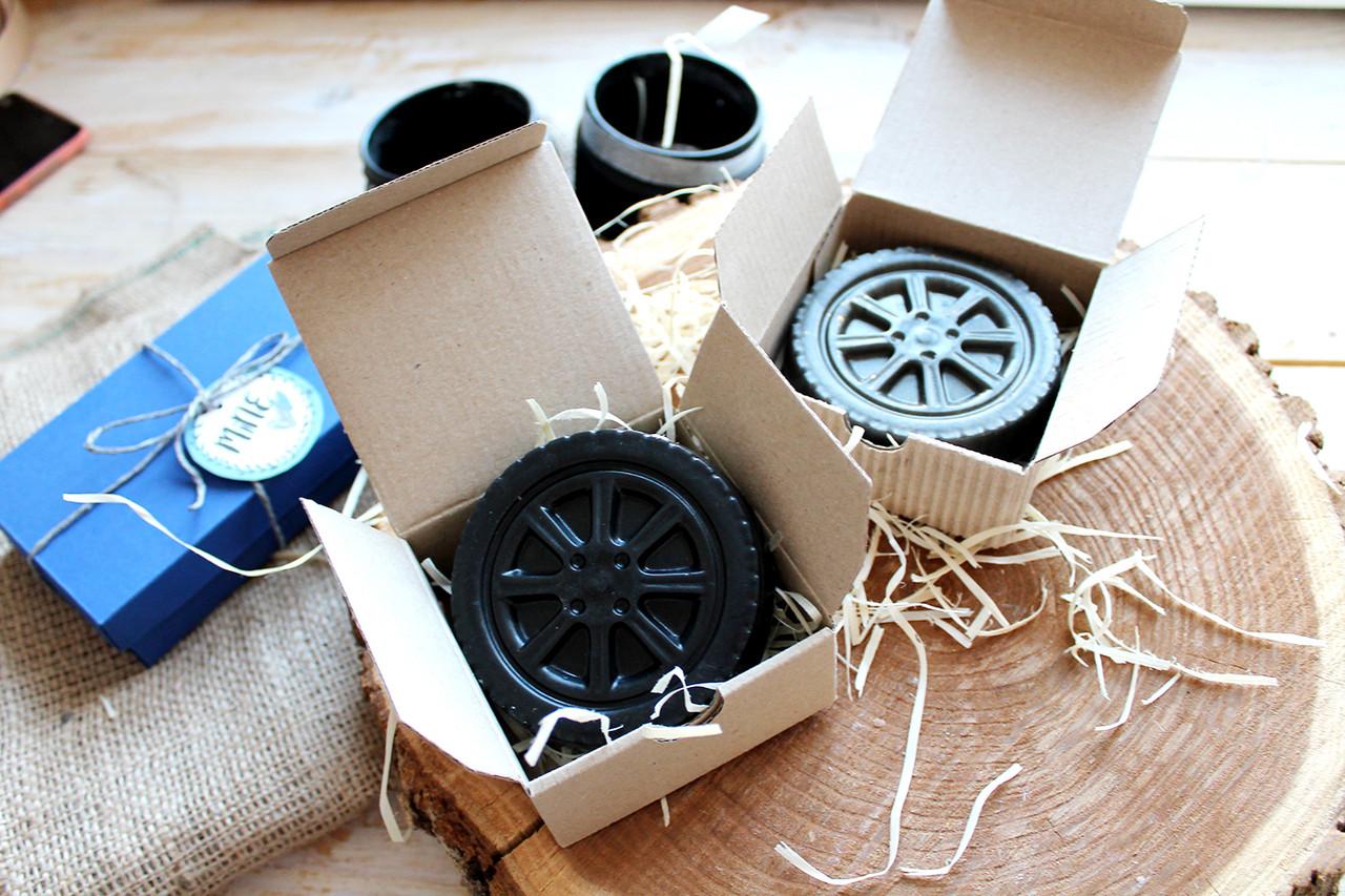 Мыло для мужчин колесо в коробке