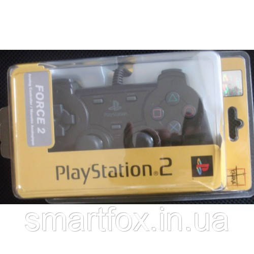 Игровой манипулятор (джойстик) ПС2 в блистере разборном ЧЕРНЫЙ