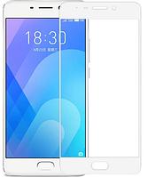 Защитное стекло для Meizu M6 Note (0.3 мм, 3D, с олеофобным покрытием) цвет белый