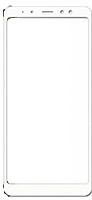 Защитное стекло для Samsung A730 (2018) Galaxy A8+ (0.3 мм, 3D, с олеофобным покрытием) цвет белый