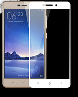 Защитное стекло для Xiaomi Redmi 3/Redmi 3s/Redmi 3X/Redmi 3 Pro 0.3 мм 3D с олеофобным покрытием) цвет белый
