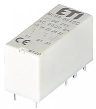Реле електромех. ETI MER2-024 DC 2p  миниатюрное