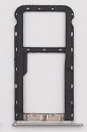 Лоток для сим карты и карты памяти для Meizu M5, серый