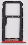 Лоток для сим карты и карты памяти для Meizu M5c (M710H), красный