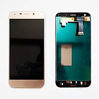 Дисплей (экран) для ZTE Blade A6 A0620, Blade A6 lite A0621 + тачскрин, золотой