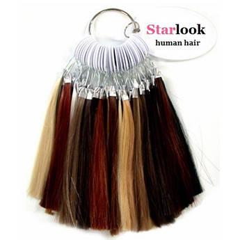 """Палитра оттенков натуральных волос """"Starlook"""" human hair 24 оттенка"""