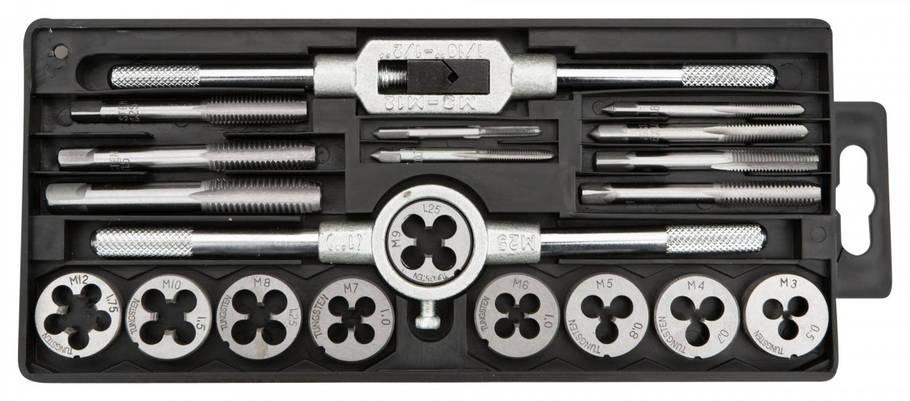 Плашки и метчики TOPEX, M3 - M12, набор 20 шт. * 1 уп., фото 2