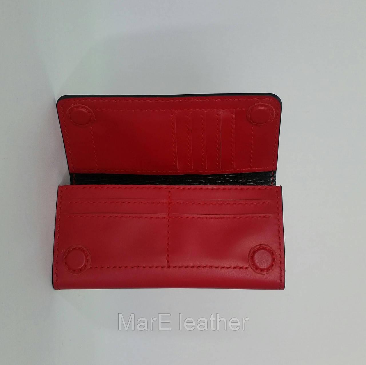 b62920a7fe81 ... Большой красный женский кошелек ручной работы из итальянской кожи, ...