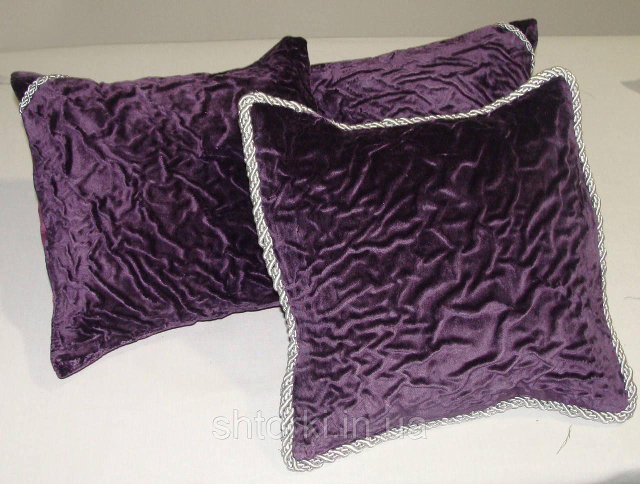 Комплект подушек Креш Фиолет 3шт 30х30
