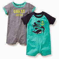 Детские песочники для мальчика Carters (2 шт)  6, 12 месяцев