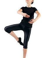 Футболка для танцев черная хлопок унисекс Dance&Sport N400