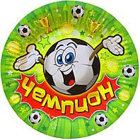 """Тарелки бумажные """"Футбол"""". Размер: 18см. В упак:10шт"""